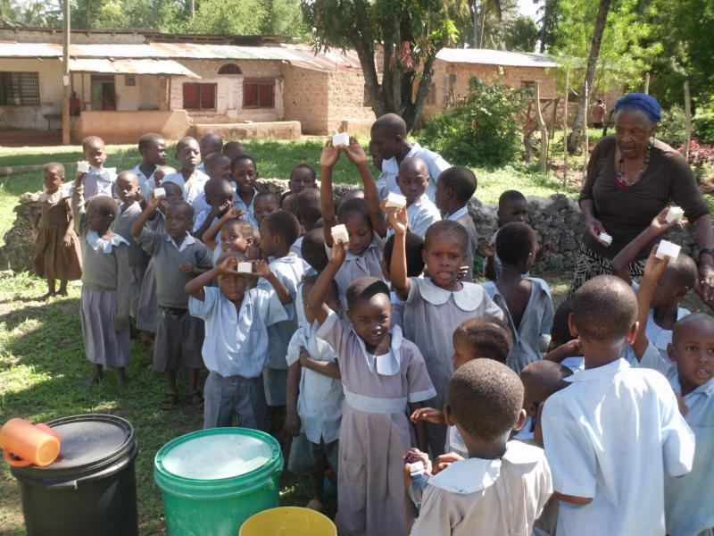 Wash with Soap. Clean Hands, Healthy Children